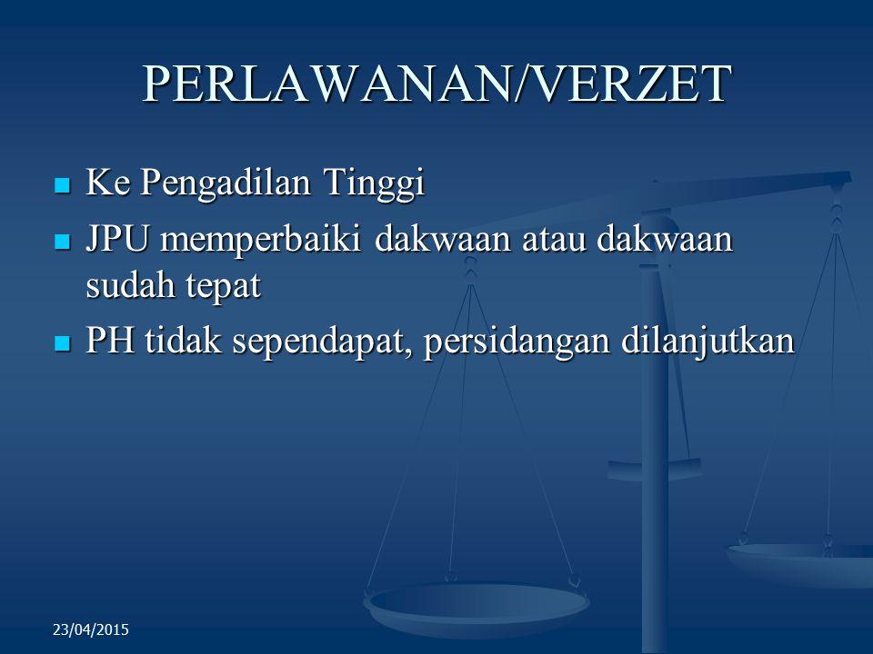 PERLAWANAN/VERZET Ke Pengadilan Tinggi