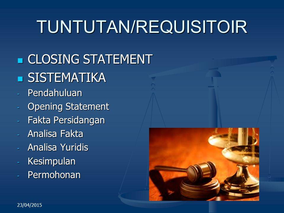 TUNTUTAN/REQUISITOIR