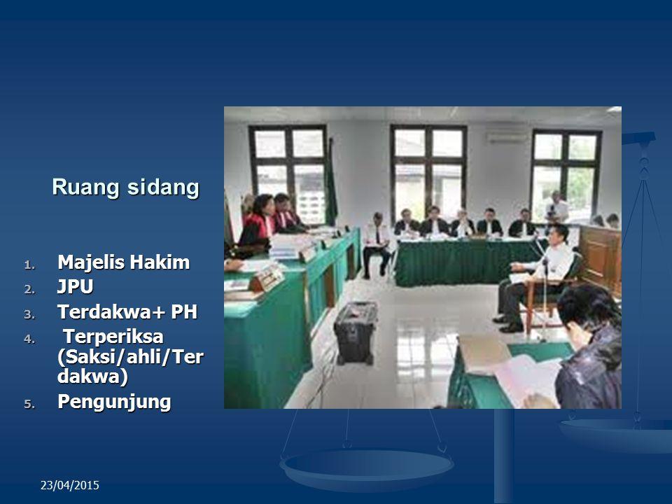 Ruang sidang Majelis Hakim JPU Terdakwa+ PH