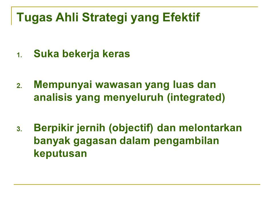 Tugas Ahli Strategi yang Efektif