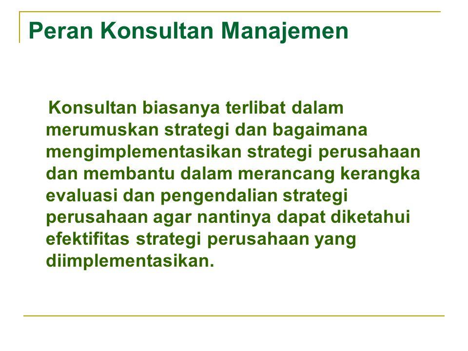 Peran Konsultan Manajemen