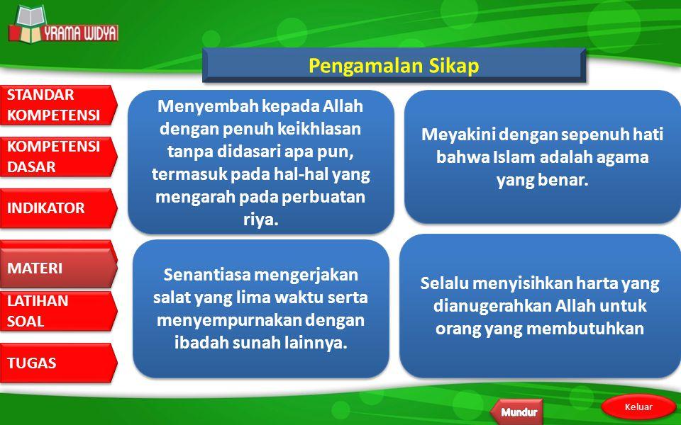 Meyakini dengan sepenuh hati bahwa Islam adalah agama yang benar.