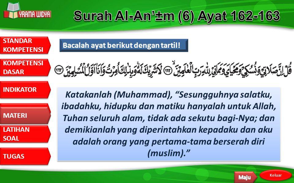 Surah Al-An'±m (6) Ayat 162-163