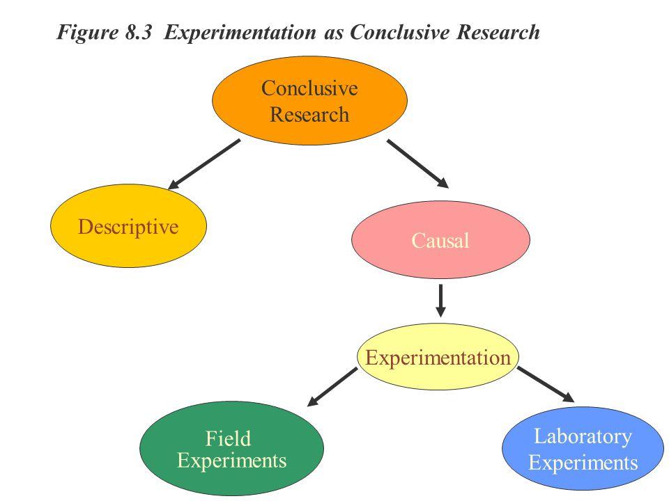 Figure 8.3 Experimentation as Conclusive Research