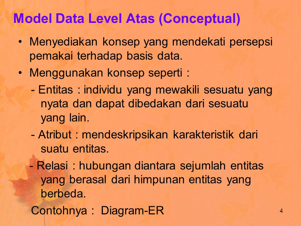 Model Data Level Atas (Conceptual)