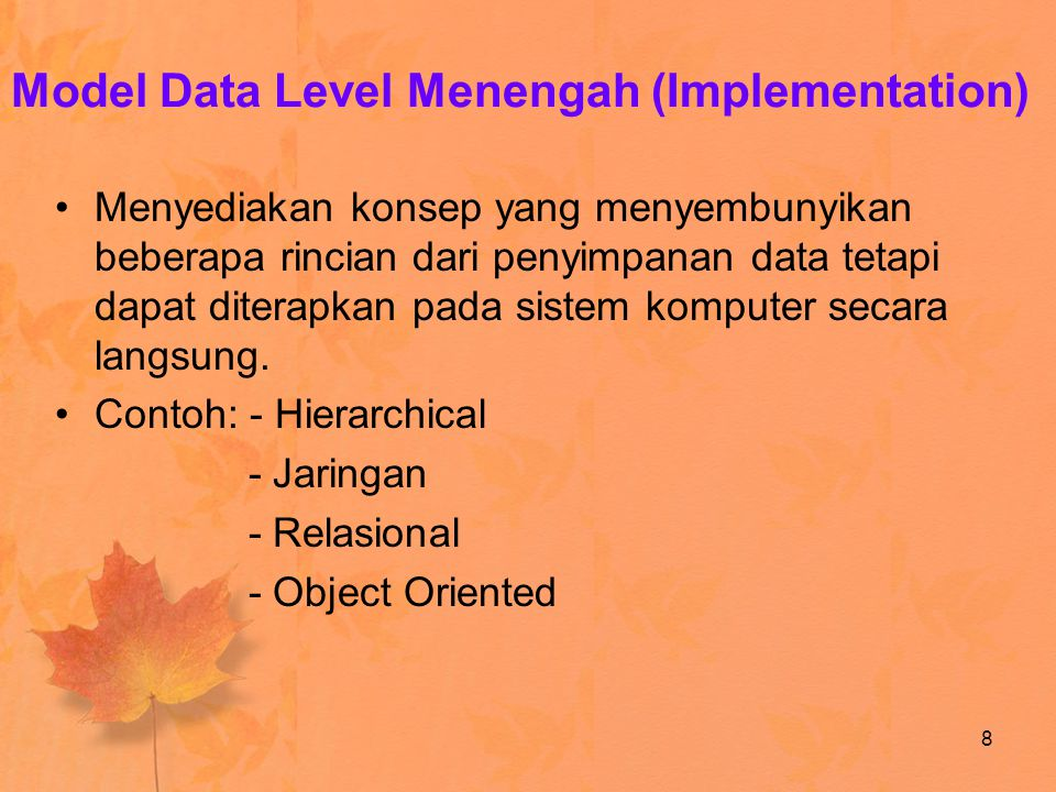 Model Data Level Menengah (Implementation)