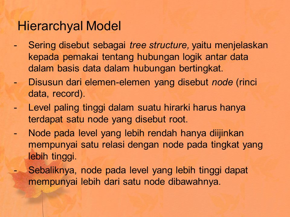 Hierarchyal Model