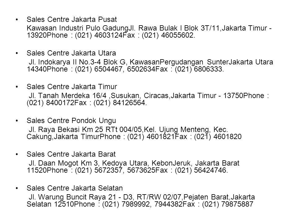 Sales Centre Jakarta Pusat