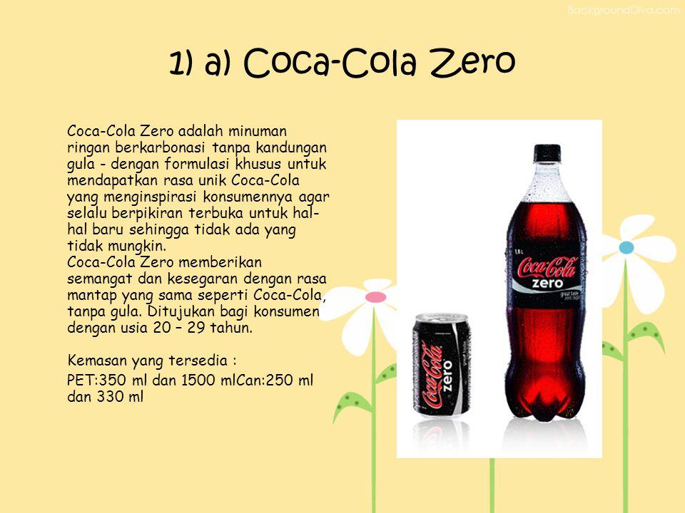 1) a) Coca-Cola Zero