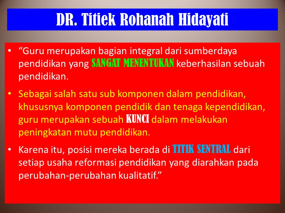 DR. Titiek Rohanah Hidayati