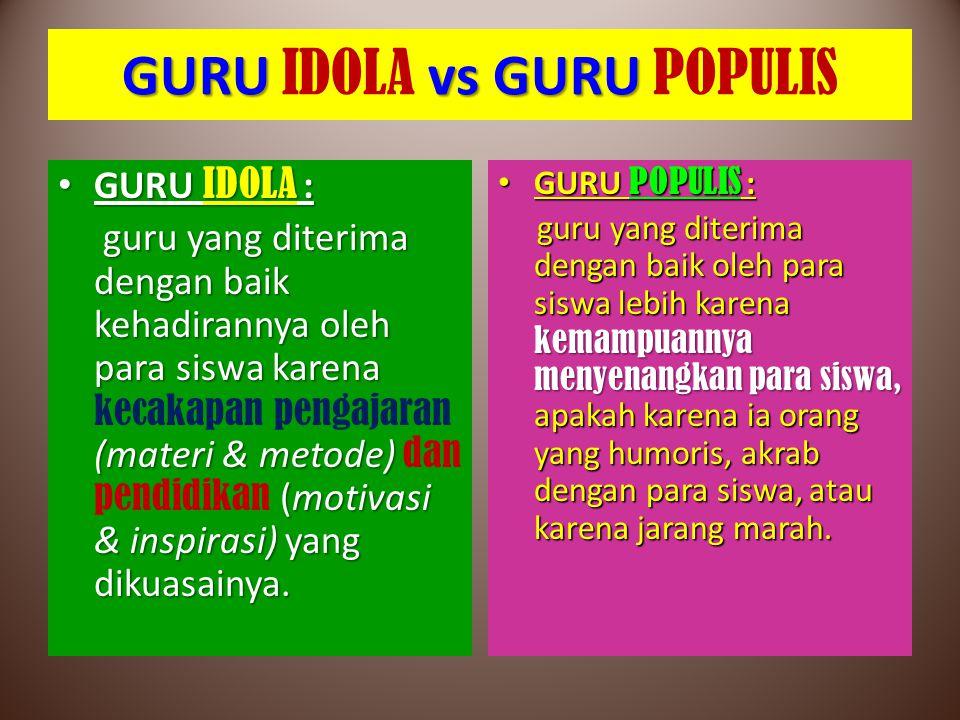 GURU IDOLA vs GURU POPULIS