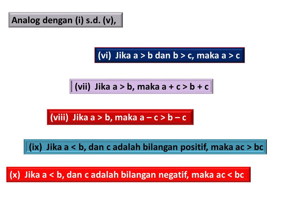 Analog dengan (i) s.d. (v),