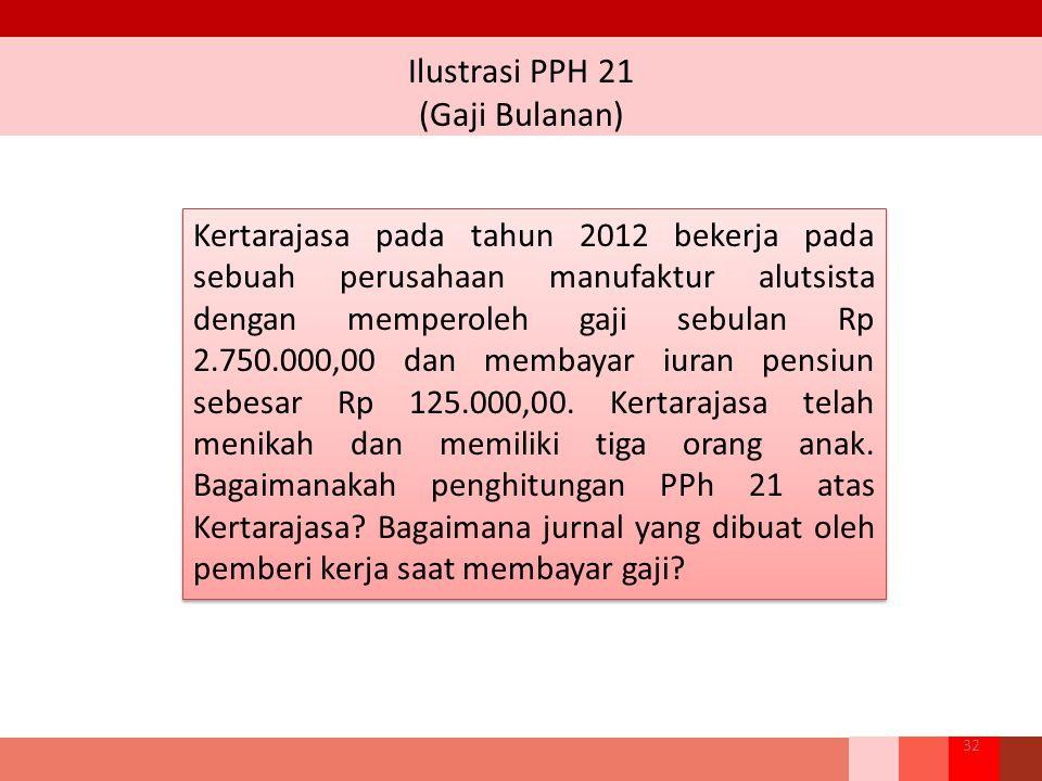 Ilustrasi PPH 21 (Gaji Bulanan)
