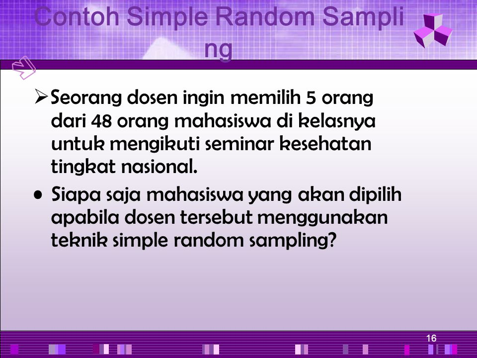 Contoh Simple Random Sampling