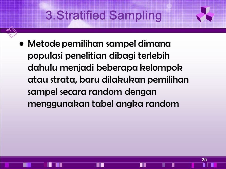 3.Stratified Sampling