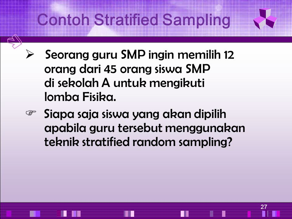 Contoh Stratified Sampling