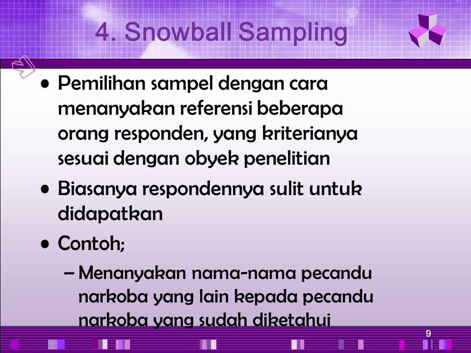 4. Snowball Sampling