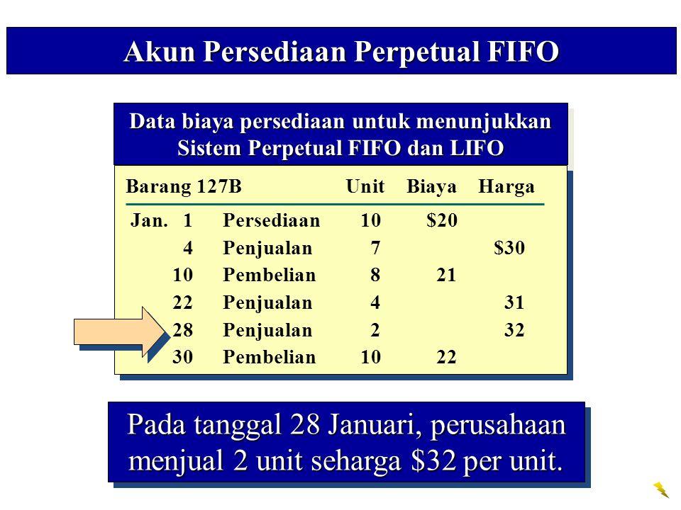 Akun Persediaan Perpetual FIFO