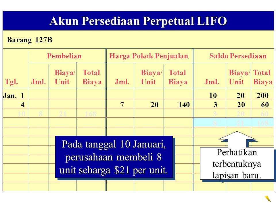 Akun Persediaan Perpetual LIFO