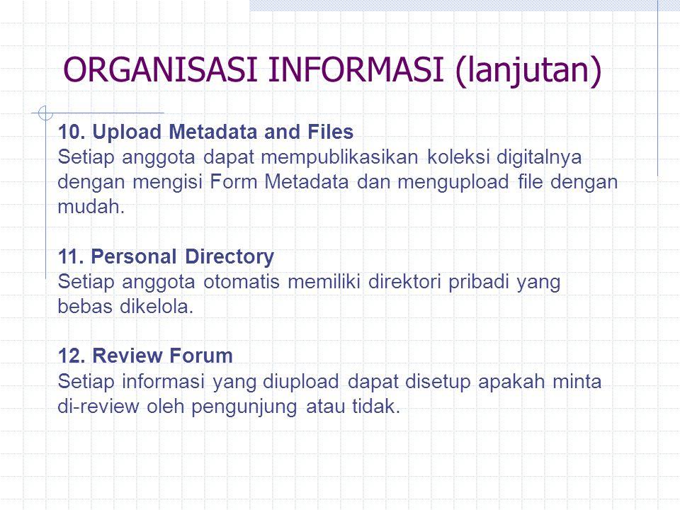 ORGANISASI INFORMASI (lanjutan)