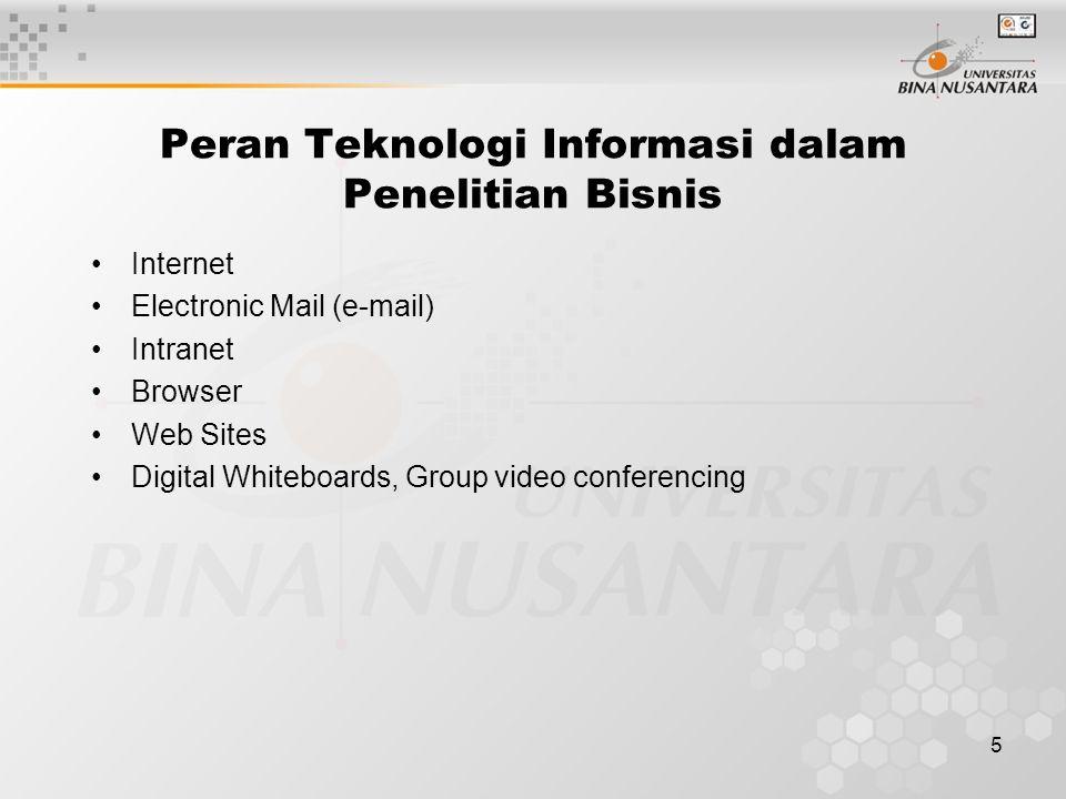 Peran Teknologi Informasi dalam Penelitian Bisnis