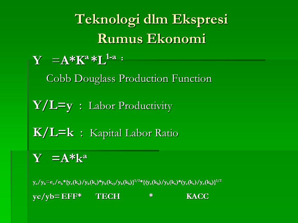 Teknologi dlm Ekspresi Rumus Ekonomi