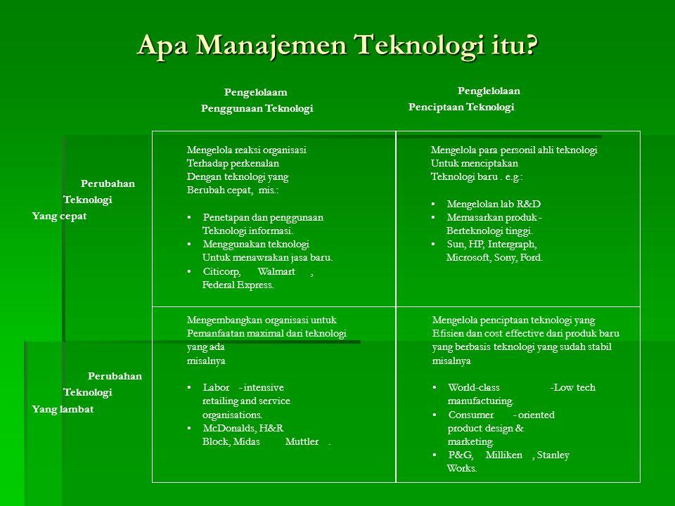 Apa Manajemen Teknologi itu