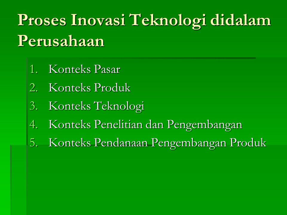Proses Inovasi Teknologi didalam Perusahaan