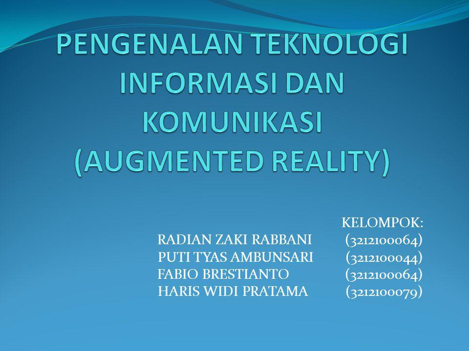 PENGENALAN TEKNOLOGI INFORMASI DAN KOMUNIKASI (AUGMENTED REALITY)