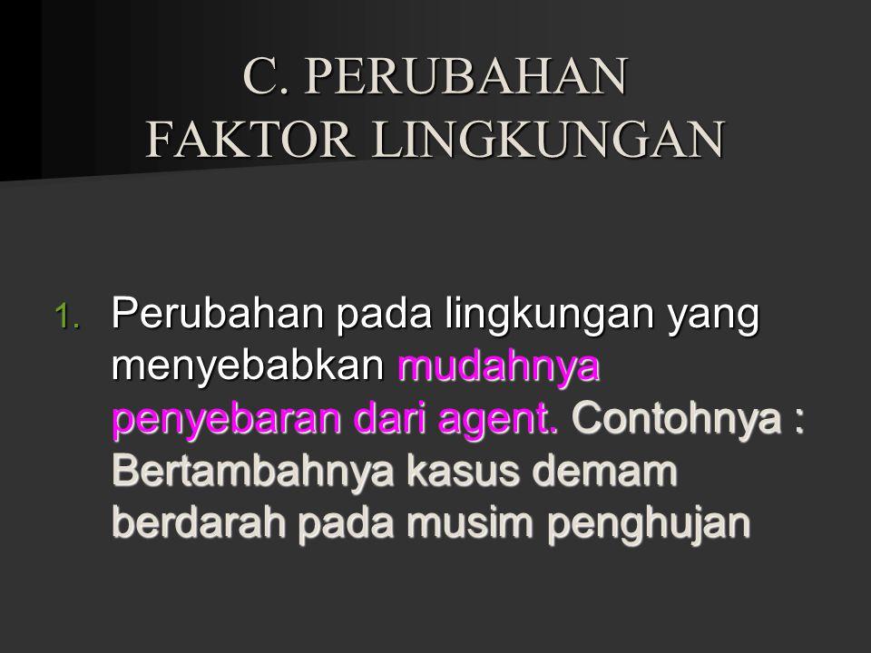 C. PERUBAHAN FAKTOR LINGKUNGAN
