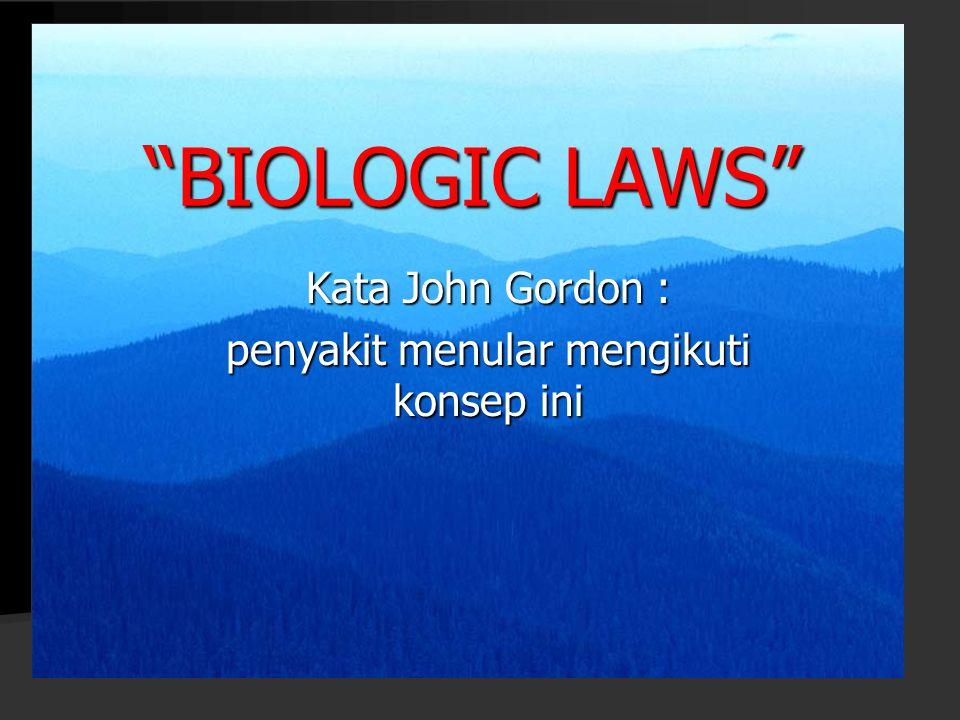 Kata John Gordon : penyakit menular mengikuti konsep ini