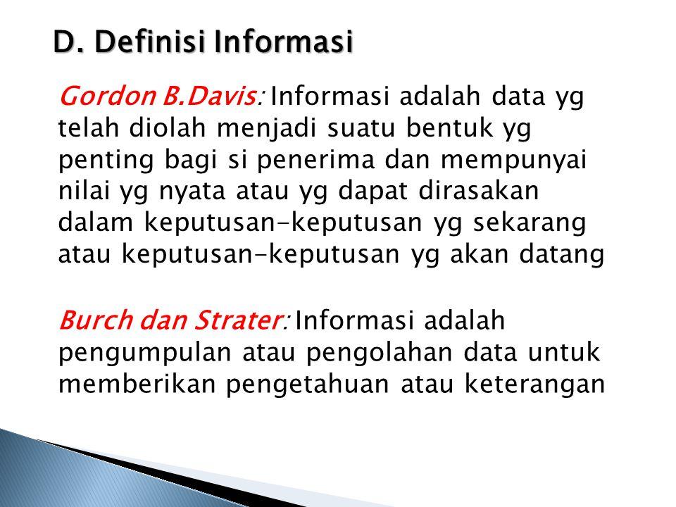 D. Definisi Informasi