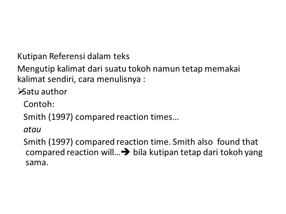 Kutipan Referensi dalam teks