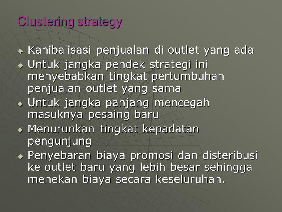 Clustering strategy Kanibalisasi penjualan di outlet yang ada