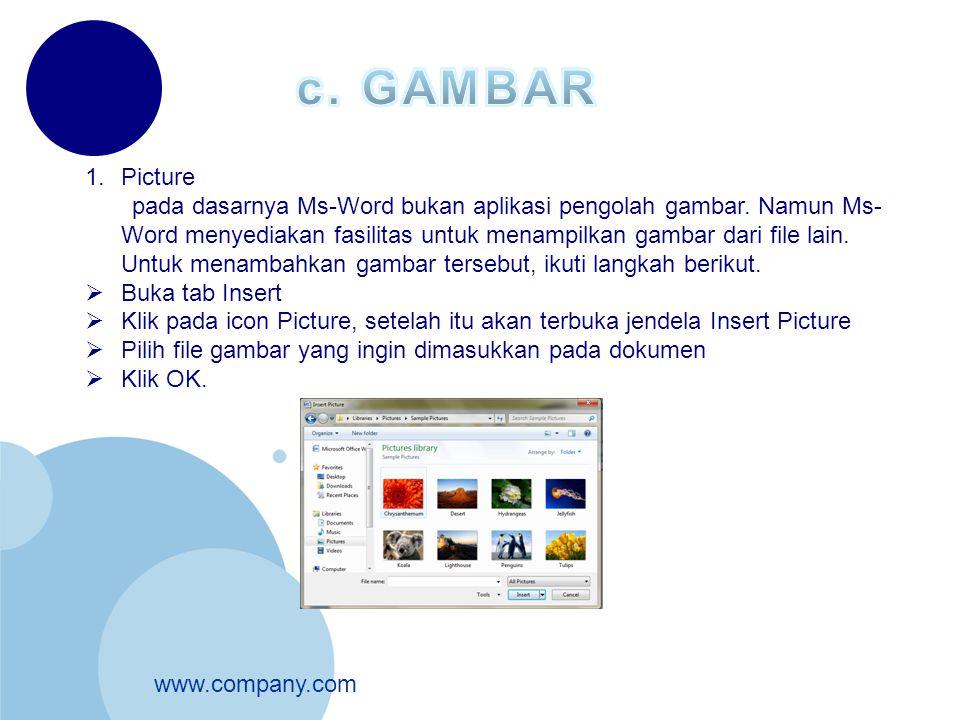 c. GAMBAR Picture.