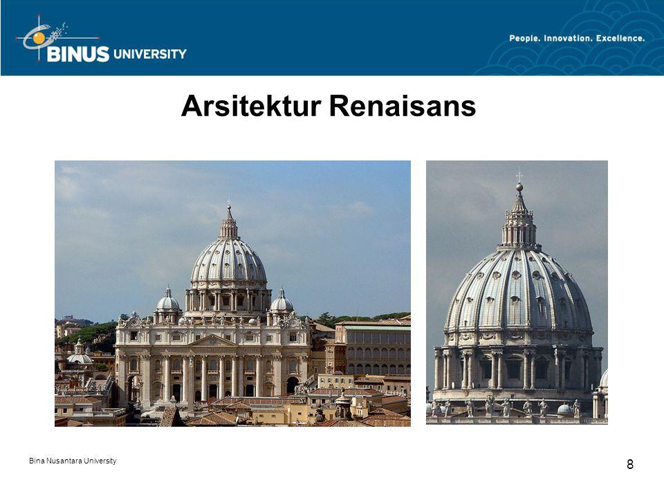 Arsitektur Renaisans Bina Nusantara University