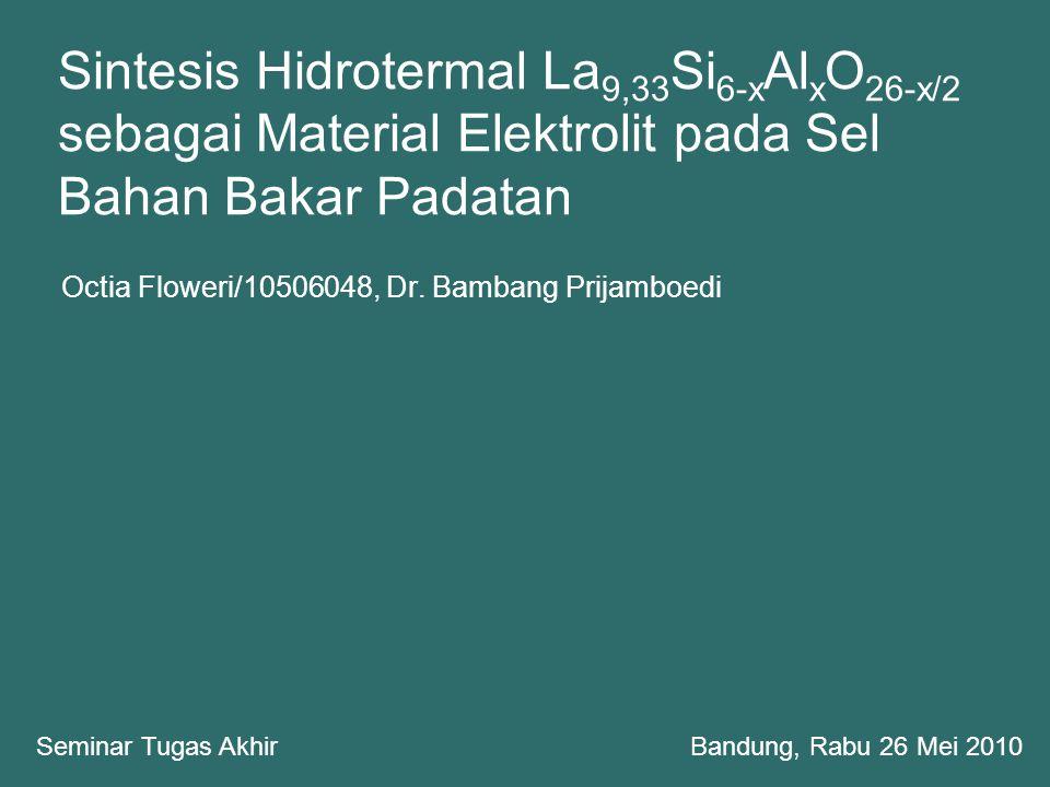 Octia Floweri/10506048, Dr. Bambang Prijamboedi