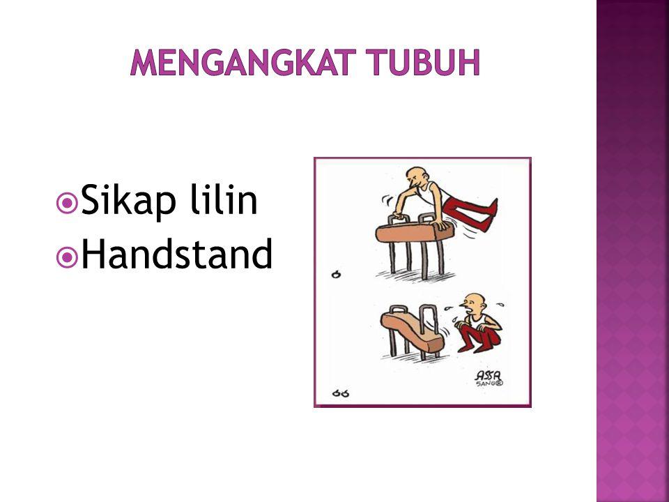 Mengangkat Tubuh Sikap lilin Handstand