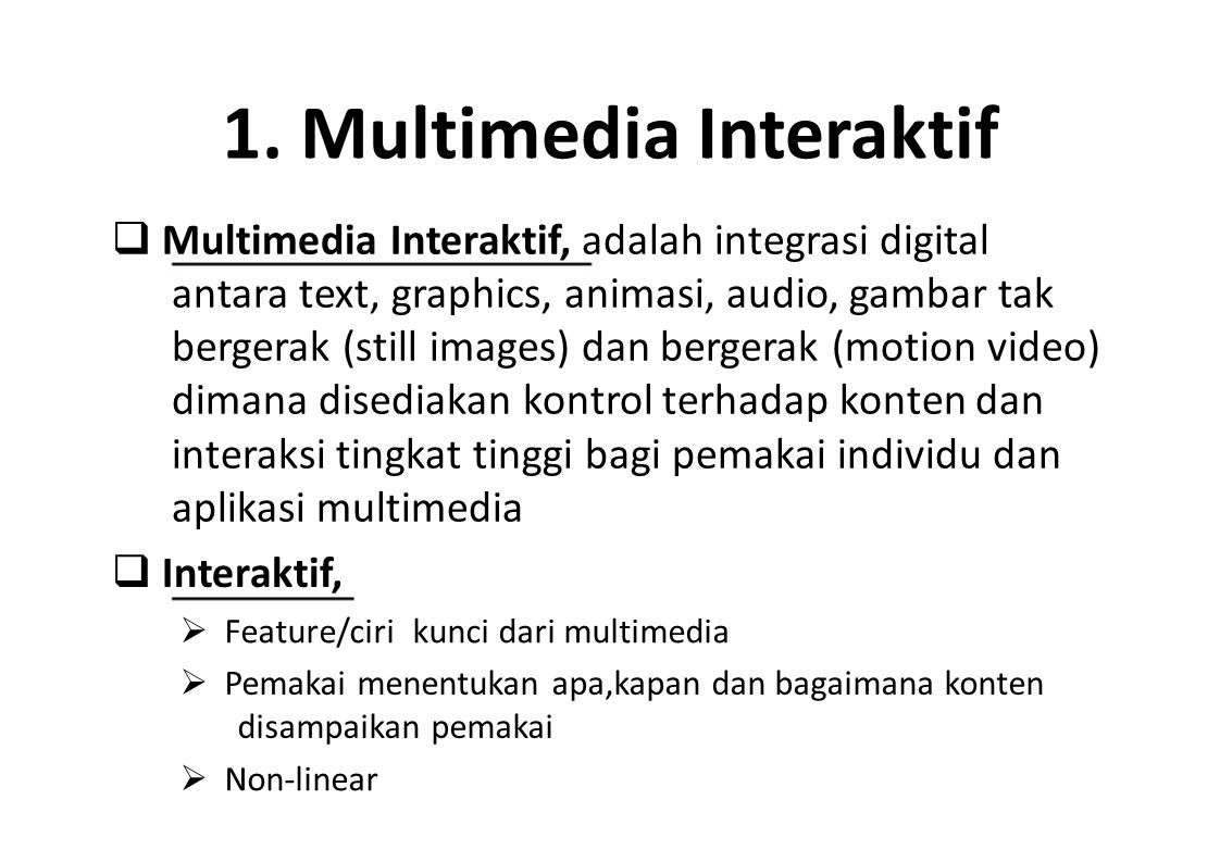 1. Multimedia Interaktif