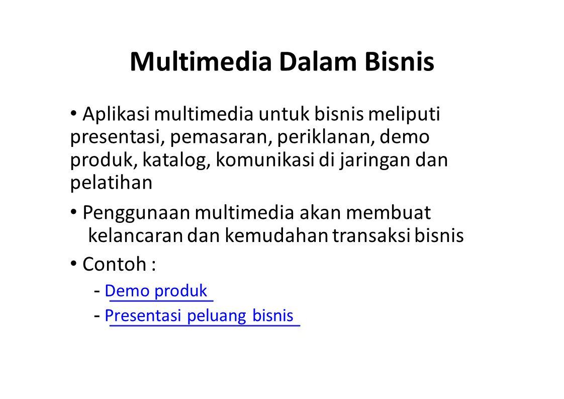 Multimedia Dalam Bisnis