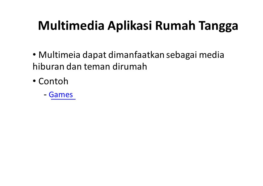 Multimedia Aplikasi Rumah Tangga