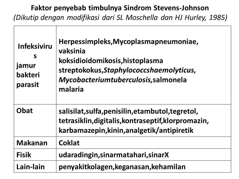 Faktor penyebab timbulnya Sindrom Stevens-Johnson