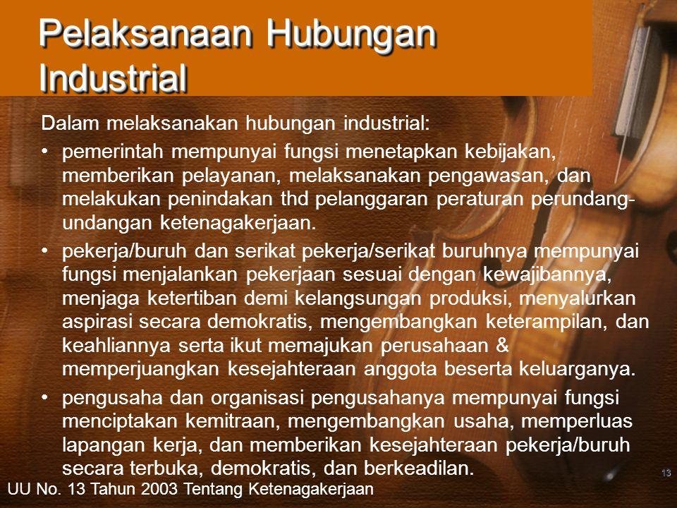 Pelaksanaan Hubungan Industrial