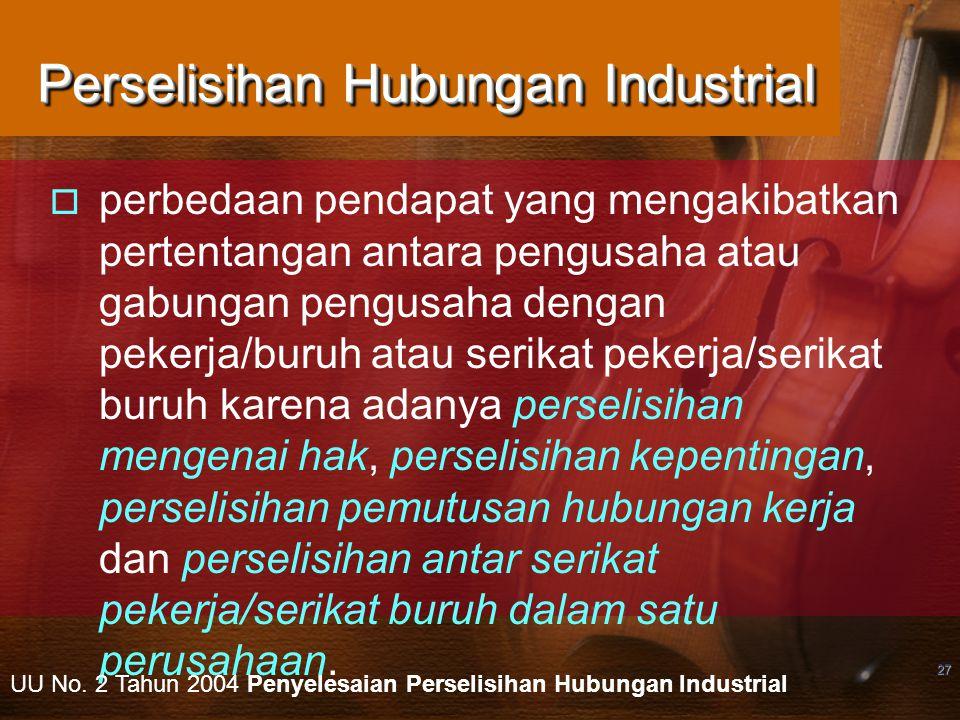 Perselisihan Hubungan Industrial