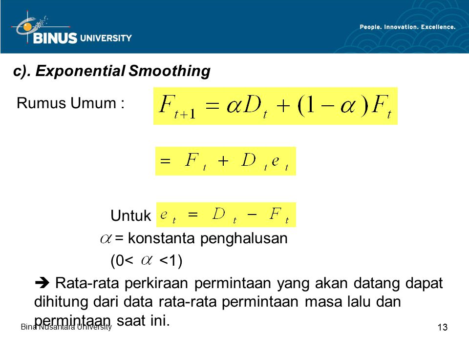 c). Exponential Smoothing