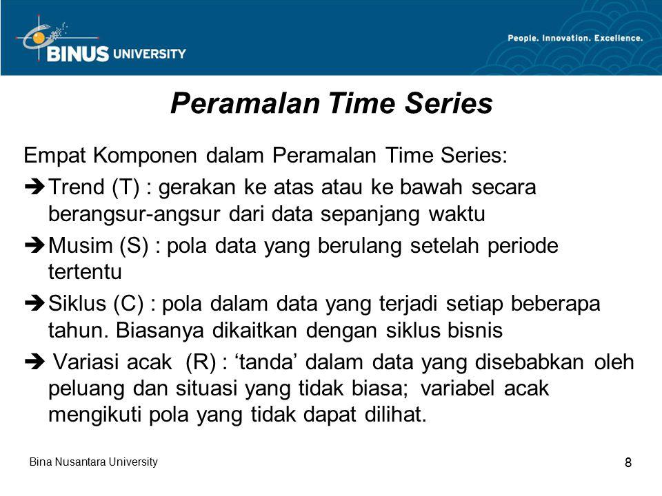 Peramalan Time Series Empat Komponen dalam Peramalan Time Series: