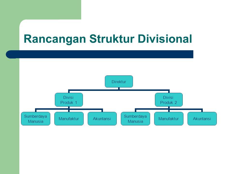 Rancangan Struktur Divisional