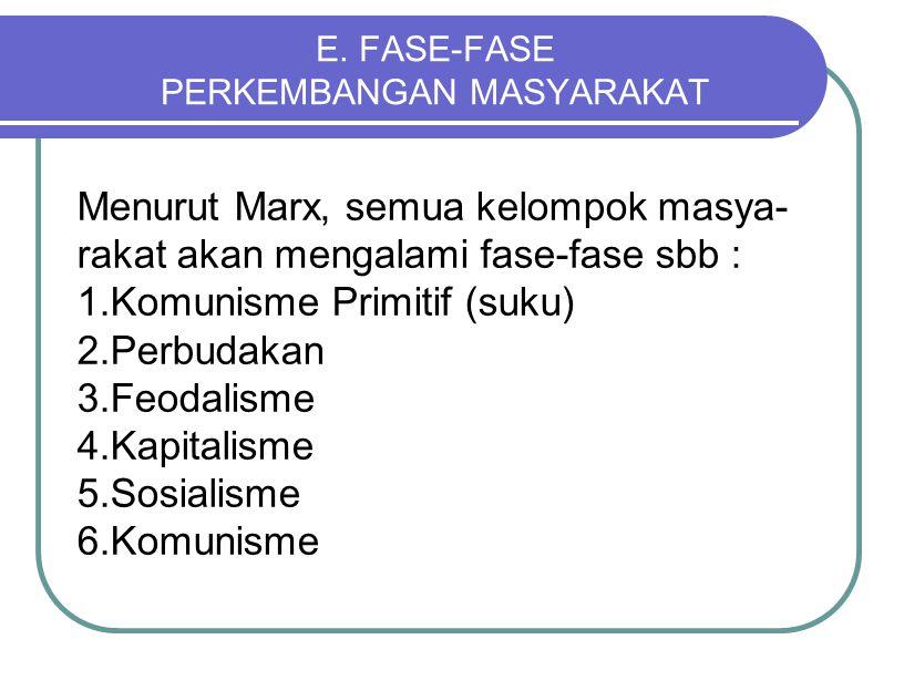E. FASE-FASE PERKEMBANGAN MASYARAKAT
