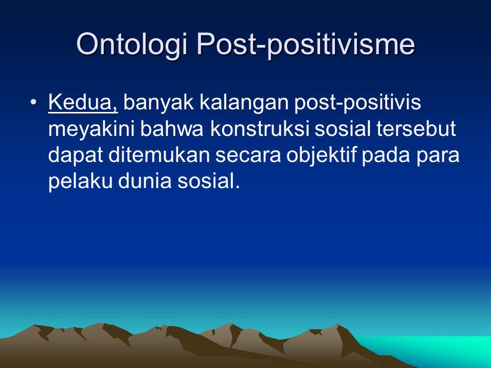 Ontologi Post-positivisme