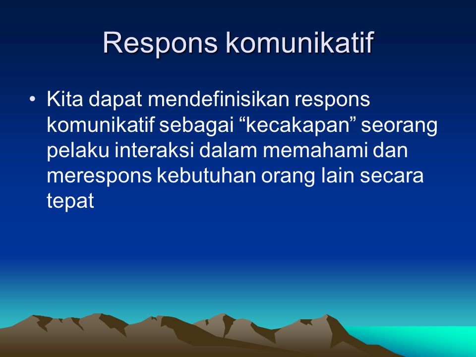 Respons komunikatif
